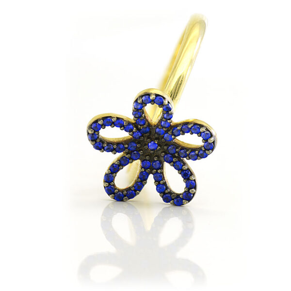 Anel Flor azul-58