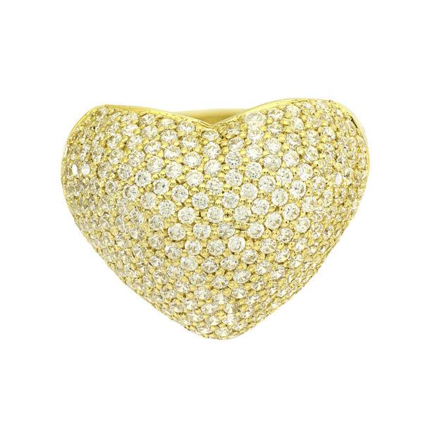 Anel de coração em Ouro-203