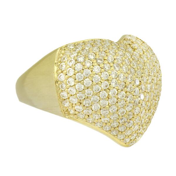 Anel de coração em Ouro-0