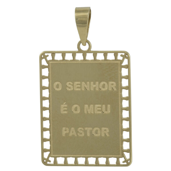 Pingente em Ouro O Senhor é Meu Pastor-0