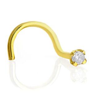 Piercing de nariz em ouro 750/18k com brilhante-0