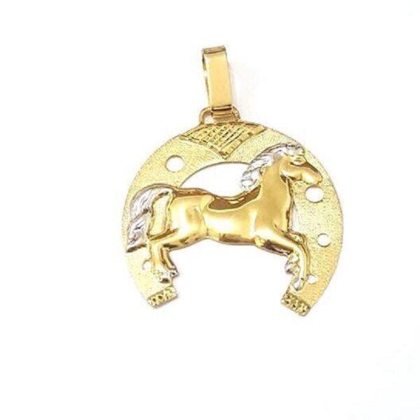 Pingente Ferradura com Cavalo-557