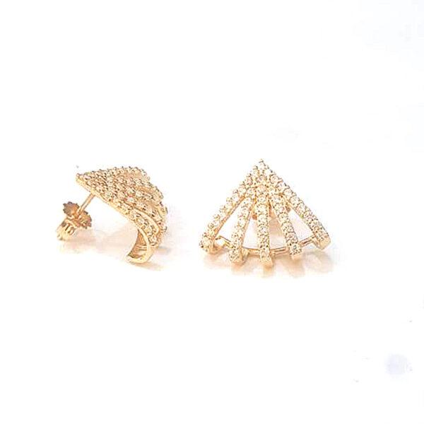 Brinco em ouro com zirconias-656