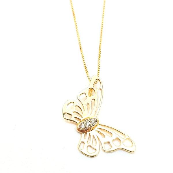 Gargantilha borboleta -0