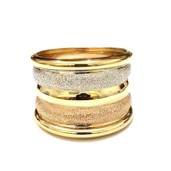 Anel em ouro amarelo, branco e rosê-867